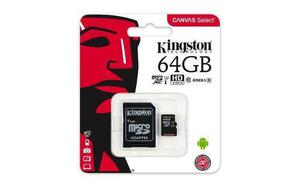 Memoria micro sd 64gb clase 10 kingston 80r 80mb/s original