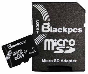 Memoria micro sd 64gb clase 10 sin adaptador blackpcs