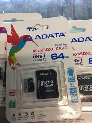 Memoria micro sd 64gb nueva clase 10