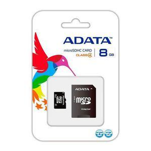 Memoria micro sd 8 gb adata para celulares camaras