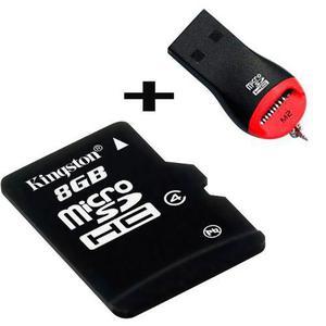 Memoria micro sd 8gb + adaptador usb gratis celulares tablet