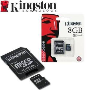 Memoria micro sd 8gb kingston clase 4 sdhc original cel,pc,