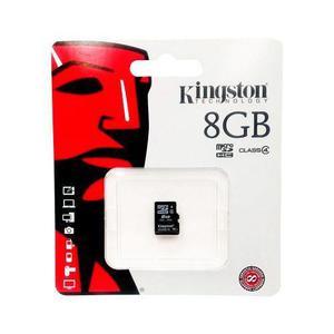 Memoria micro sd 8gb kingston original, sin adaptador