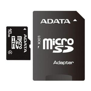 Memoria micro sd adata 16gb class 4 con adaptador sd