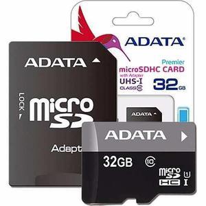 Memoria micro sd hc uhs-i 32gb adata clase 10 2 piezas