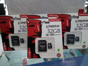 Memoria micro sd kingston 32gb paquete con 4 piezas clase 10