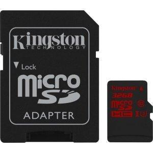 Memoria micro sd kingston 32gb u3 clase 10 go pro 4k
