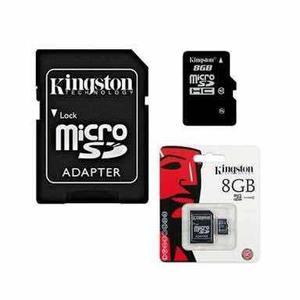 Memoria micro sd kingston de 8 gb c10 (precio de 100 piezas)