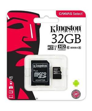 Memoria micro sd kingstonsdhc 32gb clase 10 80mb/s sdcs/32gb