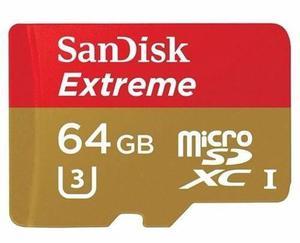 Memoria micro sd sandisk extreme 64gb go pro action camera