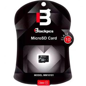 Memoria micro sdhc 8gb blackpcs mm4101-8 clase 4