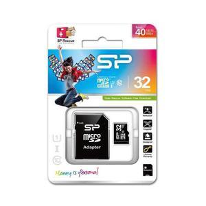 Memoria micro sdhc clase 10 32gb con adaptador silicon power