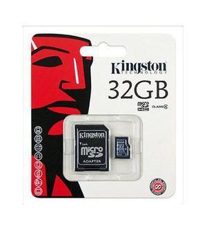 Memoria micro sdhc kingston sdc4 32gb clase 4 con adaptador