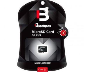 Memoria microsd 32gb blackpcs clase 10 mm10101-32