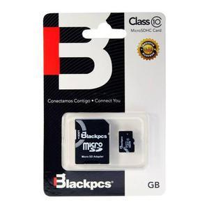 Memoria microsd 64gb clase 10 blackpcs entrega inmediata