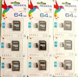 Memoria microsd 64gb clase 10 con adaptador sd