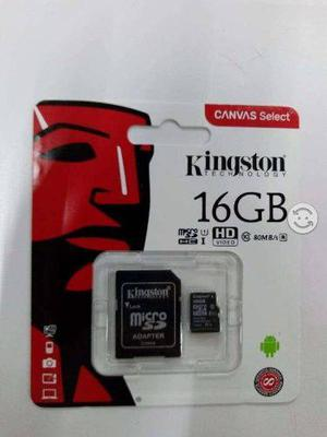 Memoria microsd hc ui hd video kingstone 16 gb