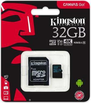 Micro 32gb kingston canvas go sdcg2/32gb