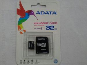 Micro memoria 32 gb adata sdhc class 4 con adaaptador 1431