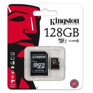 Micro sd 128 gb clase 10 kingston original, mayoreo