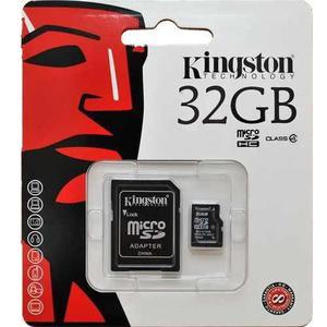 Micro sd 32gb kingston hc clase 4 adaptador mas regalo adata