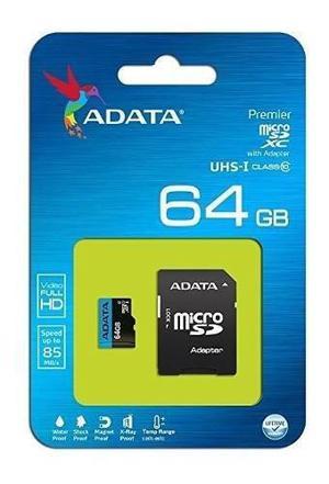 Micro sd adata premier adata 64gb / 85/25mb/s / sdhc/sdxc