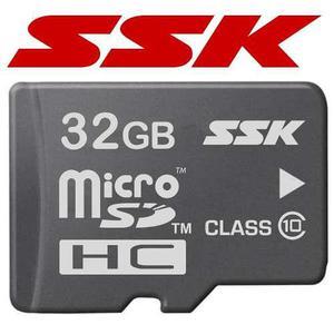 Micro sd hc 32gb clase 10 con adaptador 100% originales ssk