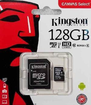 Micro sd kingston 128gb sdcs/128gb 80mb/s