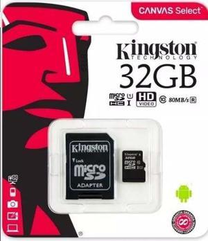 Micro sd kingston 32 gb canvas select clase 10