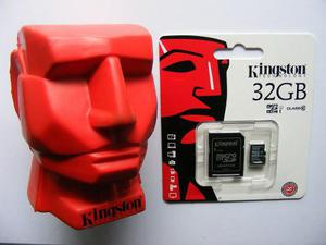Micro sd kingston 32gb clase 10hc i original + adaptador