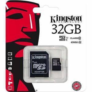 Micro sd kingston 32gb clase10 sdc10g2/32gb