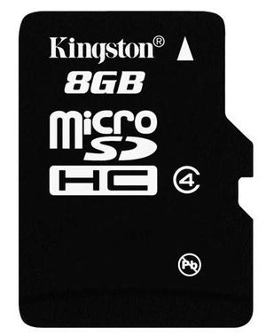 Micro sd kingston 8 gb adap sd nueva blister envío express
