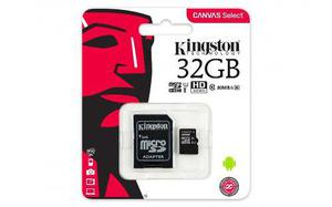 Micro sd kingston canvas select, 32gb class 10