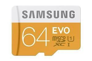 Micro sdxc tarjeta de memoria de 64 gb samsung evo clase 10