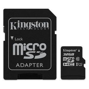 Paquete 5 memorias micro sd 32gb clase 10 80mb/s kingston