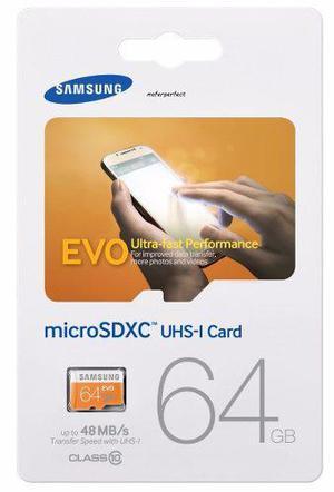 Samsung evo 64gb tarjeta de memoria micro sd