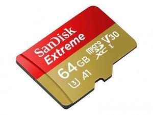 Sandisk micro sd xc u3 a1 64gb extreme 4k 100mb/s sdsqxaf