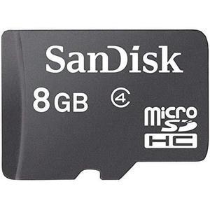 Tarjeta de memoria sandisk micro sd con adaptador sd, 8gb