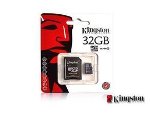 Tarjeta memoria micro sd hc kingston 32gb c/adaptador