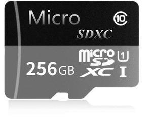 Tarjeta micro sdxc jrtez 256gb veloz clase 10 + adaptador