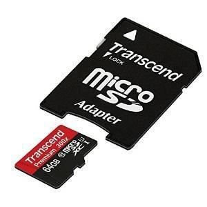 Transcend 64gb class10 microsdxc uhs-1 tarjeta de memoria co