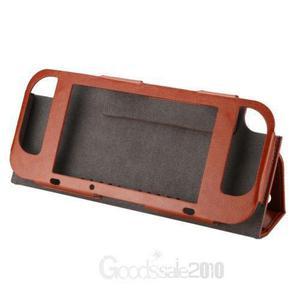 Brown - pu cuero caso cubierta protectora interruptor n-3123