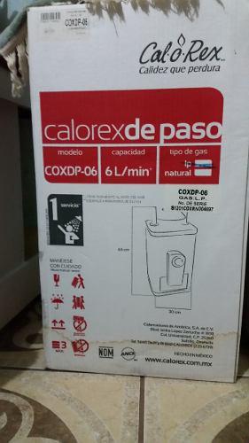 Calentador de paso calorex coxdp-06 boiler nuevo