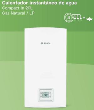 Calentador de paso instantáneo bosch compact in 20 litros