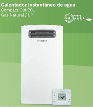 Calentador de paso instantáneo bosch compact out 20 litros