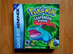 Pokemon leafgreen gameboy advance ¡original! caja custom