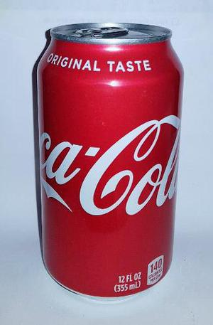 Coca cola usa original taste lata 355 ml coke 140 calorias