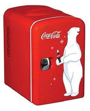 Mini refrigerador de latas coca cola