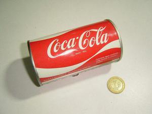 Vintage lata coca cola de metal duro otra