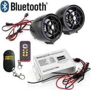 Amplificador y bocinas para moto alarma bluetooth fm usb sd